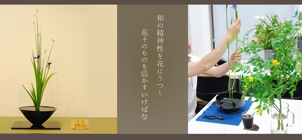 東京のいけばな池坊教室|芳庵 メインイメージ1